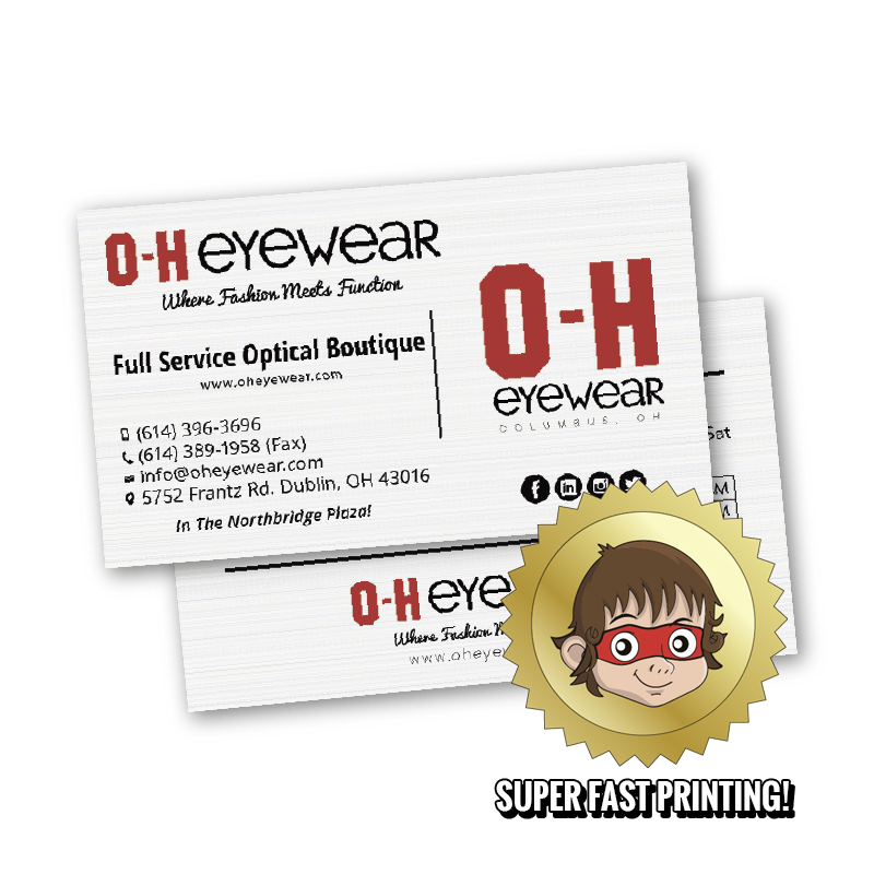Business cards same day printing on the go prints for Same day print business cards